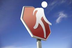 Signe de route de passage pour piétons Photo stock