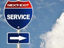 Signe de route de service illustration de vecteur