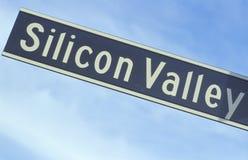 Signe de route de Silicon Valley Photos libres de droits