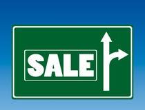 Signe de route de vente Photo stock
