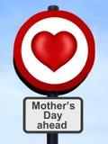 Signe de route du jour de mère illustration libre de droits