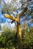 Signe de route en bois vide Image stock