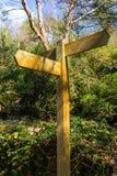 Signe de route en bois vide Photographie stock libre de droits