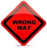 Signe de route faux de voie Photo libre de droits