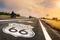 Signe de route historique de l'artère 66 Photographie stock libre de droits