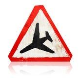 signe de route inférieur d'aéronefs de vol Image stock