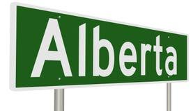 Signe de route pour Alberta Images libres de droits