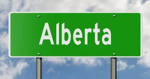 Signe de route pour Alberta Canada Photo libre de droits