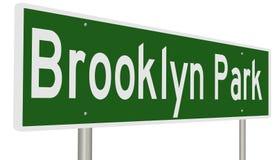 Signe de route pour Brooklyn Park Minnesota Photographie stock libre de droits