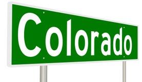 Signe de route pour l'état du Colorado illustration de vecteur