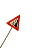 Signe de route - roches en baisse Photo libre de droits