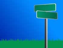 Signe de rue blanc illustration de vecteur