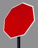 Signe de rue blanc d'octogone Photos libres de droits