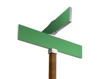 Signe de rue blanc vert Image libre de droits