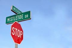 Signe de rue d'entraînement de gui Photos libres de droits