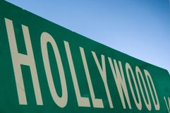 Signe de rue de Hollywood Images libres de droits