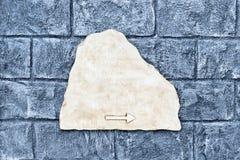 Signe de rue de marbre vide Photographie stock libre de droits