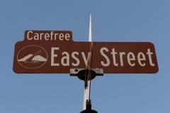 Signe de rue facile photos stock