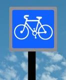 Signe de ruelle de cycle Photos stock