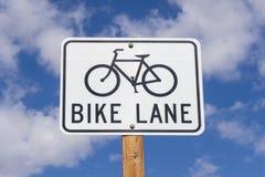 Signe de ruelle de vélo Photos stock