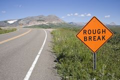 Signe de rupture approximatif. Photos stock