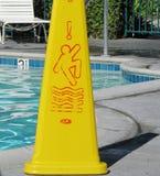 Signe de sécurité de piscine Images libres de droits