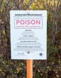 Signe de sécurité de poison Photographie stock libre de droits