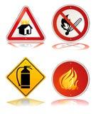 Signe de sécurité incendie illustration libre de droits