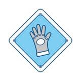 Signe de sécurité industrielle Images stock