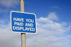 Signe de salaire et d'affichage Photos stock