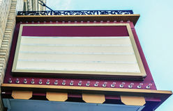 Signe de salle de cinéma photos stock