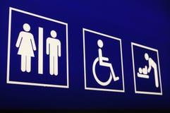 Signe de salle de toilette d'aéroport Image stock
