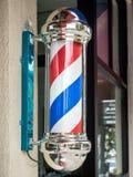 Signe de salon de coiffure de vintage images libres de droits