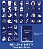 Signe de santés et sécurité Photo libre de droits