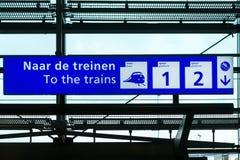 Signe de Schiphol Photographie stock