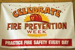 Signe de semaine de protection contre l'incendie Images stock