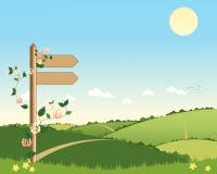 Signe de sentier piéton illustration stock