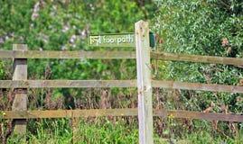 signe de sentier piéton Images libres de droits