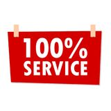 Signe de service de 100% - illustration Photo libre de droits