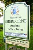 Signe de Sherborne Image stock