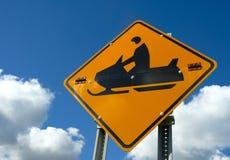 Signe de Snowmobile Photos stock