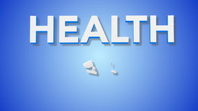Signe de soins de santé banque de vidéos