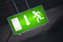 Signe de sortie de secours Image libre de droits