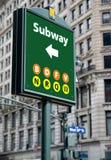 Signe de souterrain Images libres de droits