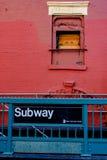 Signe de souterrain de NYC Photographie stock libre de droits