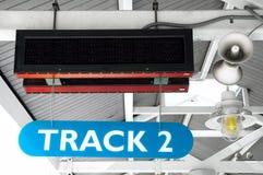 Signe de station de train Image libre de droits