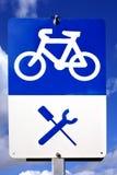 Signe de station de réparation de vélo Images stock