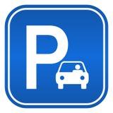 Signe de stationnement Photographie stock