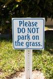 Signe de stationnement Photo libre de droits