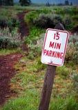 Signe de stationnement photos stock